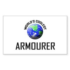 World's Coolest ARMOURER Rectangle Decal