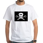 Craft Pirate Scissors White T-Shirt