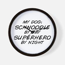 Schnoodle Superhero by Night Wall Clock