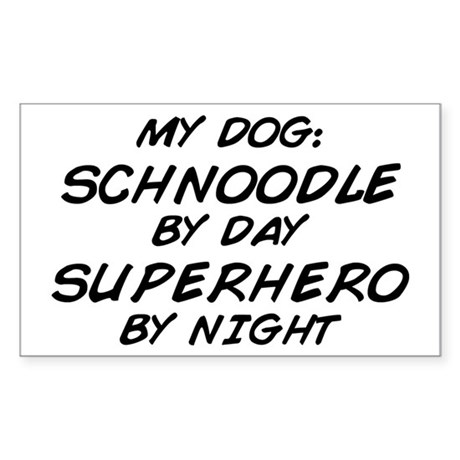 Schnoodle Superhero by Night Rectangle Sticker