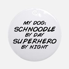 Schnoodle Superhero by Night Ornament (Round)