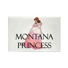 Montana Princess Rectangle Magnet