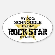 Schnoodle RockStar Oval Decal