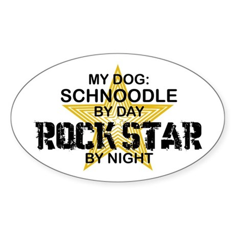 Schnoodle RockStar Oval Sticker