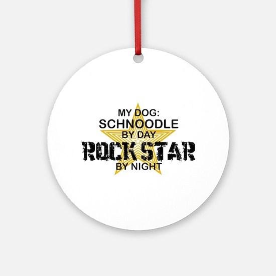 Schnoodle RockStar Ornament (Round)