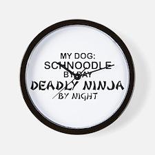 Schnoodle Deadly Ninja Wall Clock