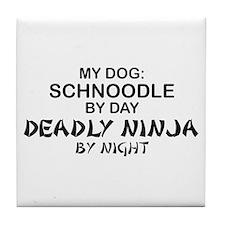 Schnoodle Deadly Ninja Tile Coaster