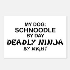 Schnoodle Deadly Ninja Postcards (Package of 8)