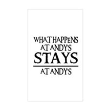 STAYS AT ANDY'S Rectangle Decal