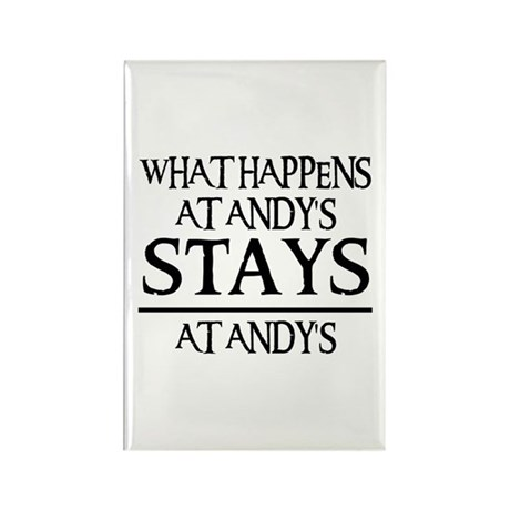 STAYS AT ANDY'S Rectangle Magnet (100 pack)