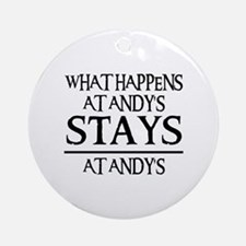 STAYS AT ANDY'S Ornament (Round)