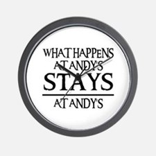 STAYS AT ANDY'S Wall Clock