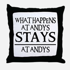 STAYS AT ANDY'S Throw Pillow