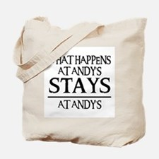 STAYS AT ANDY'S Tote Bag