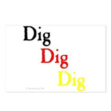 Dig Dig Dig (D20) Postcards (Package of 8)