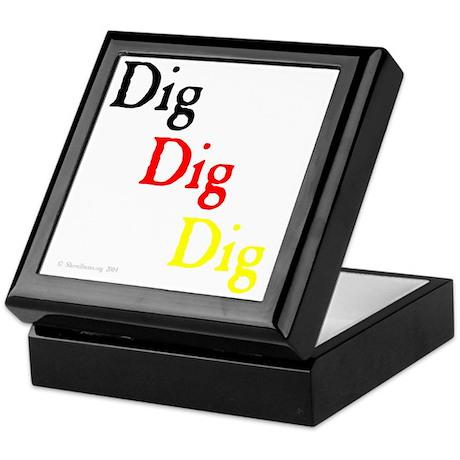 Dig Dig Dig (D20) Keepsake Box