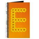 Yellow Flowers Letter E Writing Journal