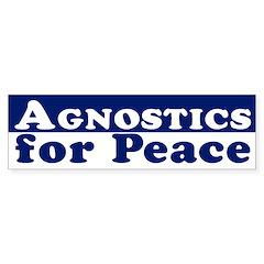 Agnostics for Peace (bumper sticker)