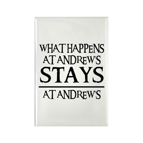 STAYS AT ANDREW'S Rectangle Magnet (100 pack)