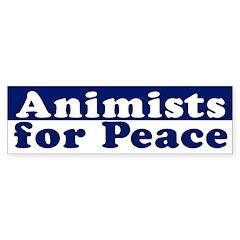 Animists for Peace (bumper sticker)