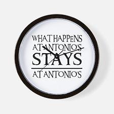 STAYS AT ANTONIO'S Wall Clock