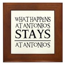 STAYS AT ANTONIO'S Framed Tile