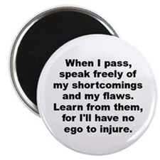 """When i pass speak freely my shortcomings my 2.25"""" Magnet (100 pack)"""