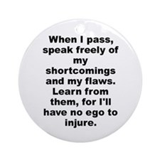 Cute Speak freely Ornament (Round)