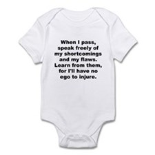 Cool When i pass speak freely my shortcomings my Infant Bodysuit