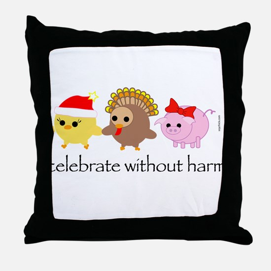 Celebrate Without Harm Throw Pillow