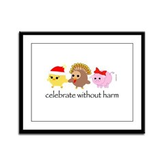 Celebrate Without Harm Framed Panel Print