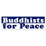 Buddhists for Peace (bumper sticker)