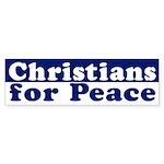 Christians for Peace (bumper sticker)