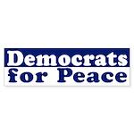 Democrats for Peace (bumper sticker)