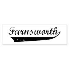 Farnsworth (vintage) Bumper Bumper Sticker