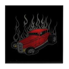 Flamed Hotrod Tile Coaster