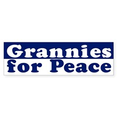 Grannies for Peace (bumper sticker)