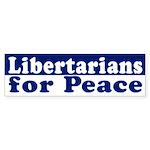 Libertarians for Peace bumper sticker