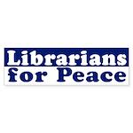 Librarians for Peace (bumper sticker)