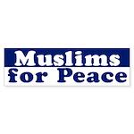Muslims for Peace (bumper sticker)