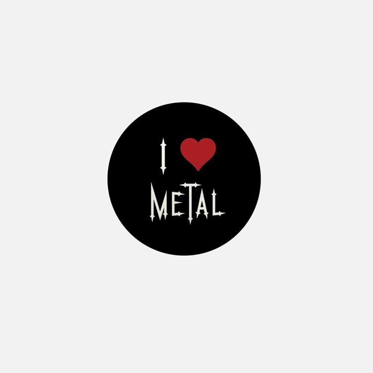 I Love Metal Mini Button