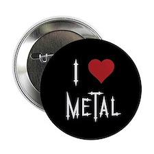 "I Love Metal 2.25"" Button"