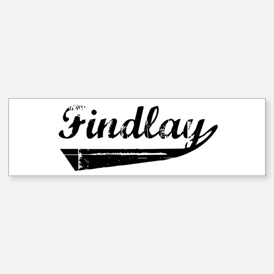 Findlay (vintage) Bumper Bumper Bumper Sticker