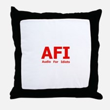 Audio For Idiots Throw Pillow