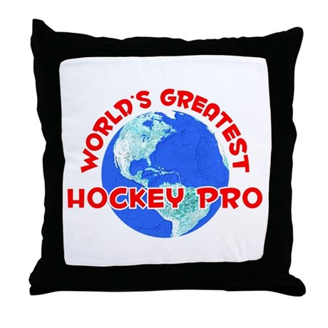 World's Greatest Hocke.. (F) Throw Pillow