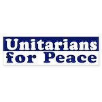 Unitarians for Peace (bumper sticker)