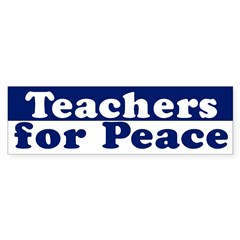 Teachers for Peace (bumper sticker)
