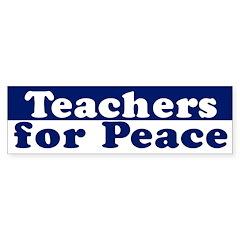 Teachers for Peace (bumper sticker)