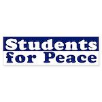 Students for Peace (bumper sticker)