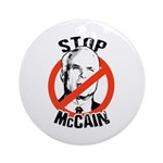 Stop McCain Ornament (Round)